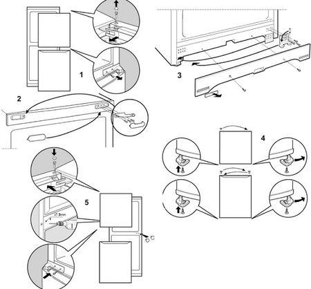Инструкция: как перевесить дверь холодильника