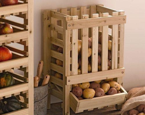 Хранение картофеля в кладовой