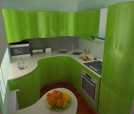Стиль маленькой кухни
