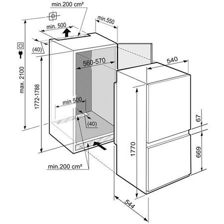 Размеры холодильника комби Liebherr ICUNS 3314