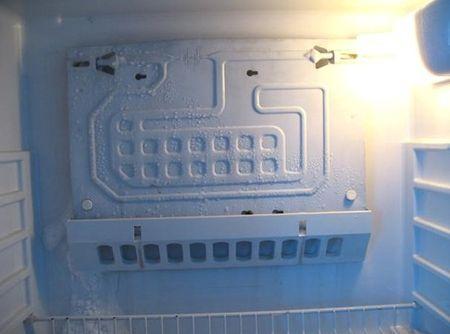 Появление ледяных наростов в камере
