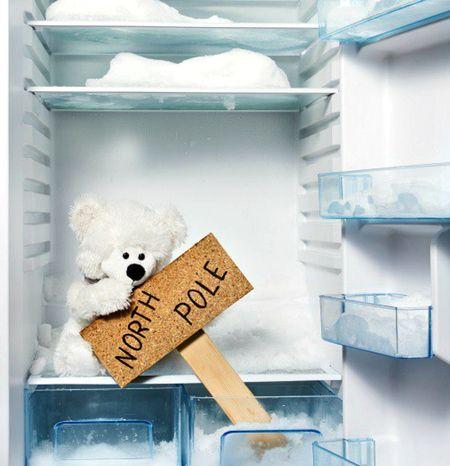 Холодильник со льдом