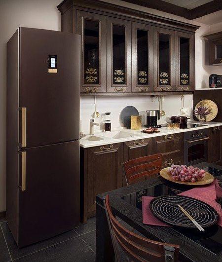 Дизайн кухни в коричневых тонах