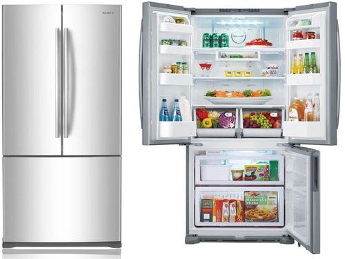 Широкий двухкамерный холодильник