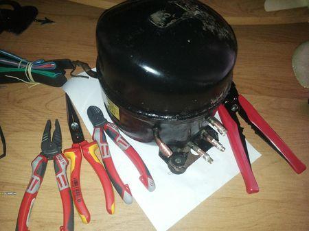 Компрессор подготовлен для ремонта