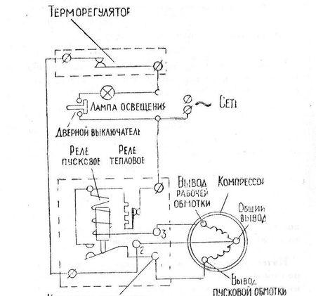 Электросхема холодильника Саратов
