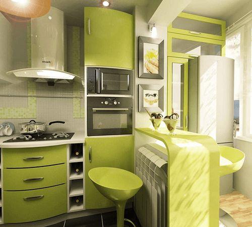 Кухни 6 метров с холодильником: планировка дизайна и проекты.