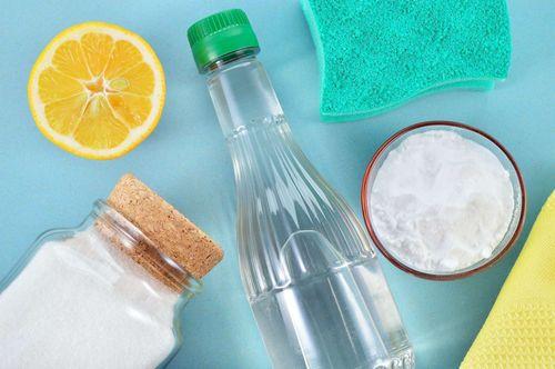Сода, соль,  лимон и уксус