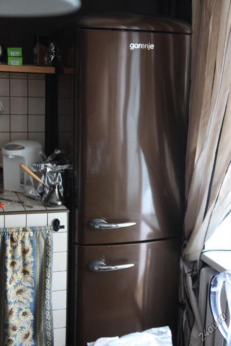 Коричневый холодильник Gorenje