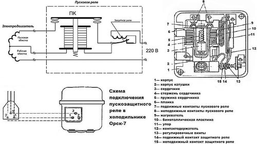 Схема бытового холодильника