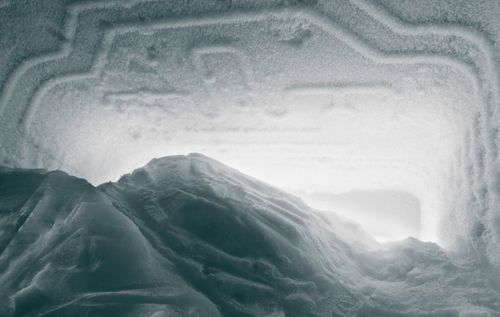 Снег в камере холодильника