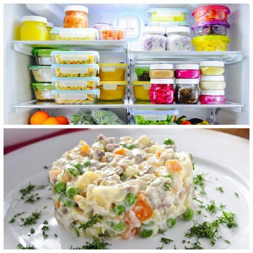 Салат винегрет в холодильнике