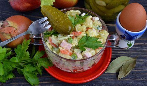 Готовый салат винегрет